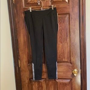 NWT black and gray work out leggings